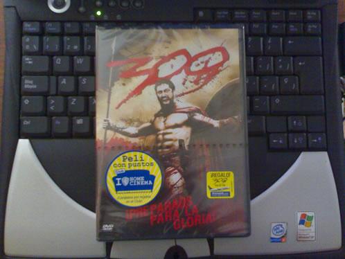 DVD de 300 listo para enviar (Portada)